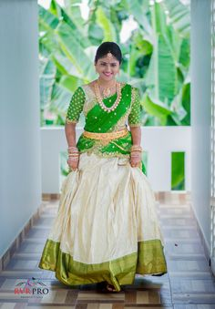 Half saree designs - 16 Silk Half Sarees That Caught Our Acute Attentions Lehenga Saree Design, Half Saree Lehenga, Pattu Saree Blouse Designs, Bridal Lehenga Choli, Saree Look, Lehenga Designs, Saree Dress, Sari, Gown Dress