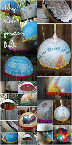 lighting up the world: {DIY} globe pendant light Globe Crafts, Craft Projects, Projects To Try, Globe Pendant Light, Pendant Lights, Globe Lights, Globe Lamps, Light Project, Diy For Teens
