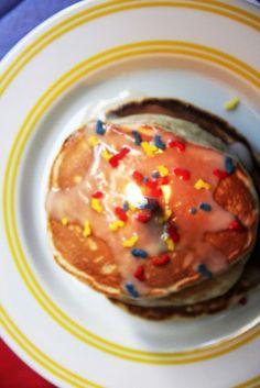 Cake Batter Birthday Pancakes
