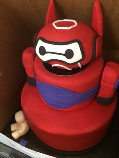 Baymax Cake! Big Hero 6 #baymaxcake #bighero6 Visit www.fireblossomcandle.com for more party ideas!