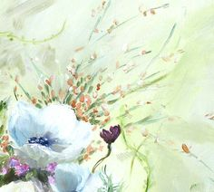 Floral Painting Fine Art Print // Away With The