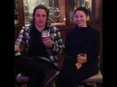 Outlander | Interview ~ Caitriona Balfe & Sam Heughan @ T2 Trainspotting Premiere [Xposé] - YouTube