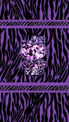 Bling Wallpaper, Heart Wallpaper, Love Wallpaper, Cellphone Wallpaper, Wallpaper Ideas, Hello Kitty Backgrounds, Hello Kitty Wallpaper, Purple Backgrounds, Wallpaper Backgrounds
