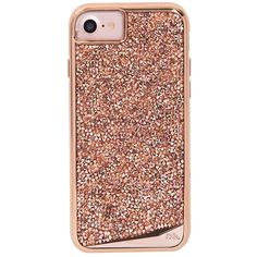 Amazon.com: Case-Mate iPhone 7 case - Brilliance - Rose Gold: Cell... ($88) ❤ liked on Polyvore featuring accessories and tech accessories