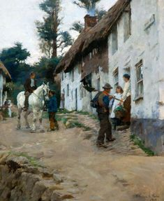 Evening,Worker's Return by Stanhope Alexander Forbes 1904