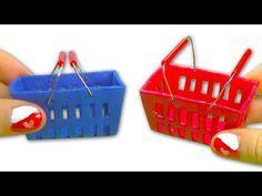 Como fazer cesto de compras em miniatura para boneca - Faça você mesmo - YouTube