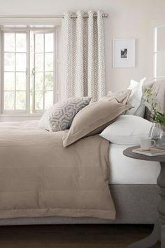 Sivohnedá Súprava posteľnej bielizne z bavlny s vaflovým vzorom Collection Luxe s dostavou z 300 nití