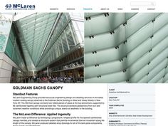 Project page for McLaren Engineering Group. Web design by Think Studio.