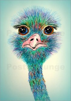 siegfried2838 - Strauß Stanislaw Aquarell Malerei Vogel Vögel