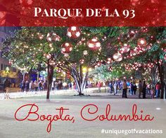 Columbia Golf Vacations: Come Explore Parque de la 93 #uniquegolfvacations #golfholidays #parquedela93 #columbia