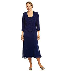 Alex Evenings Embellished Jacquard Jacket Dress #Dillards (Mother of the Bride)