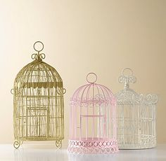 Maybe I'll incorporate antique bird cages?
