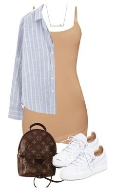 """Untitled #5065"" by theeuropeancloset on Polyvore featuring Frank & Eileen, Louis Vuitton and Giuseppe Zanotti"