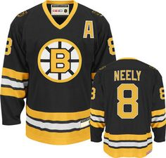 Boston Bruins Cam Neely 8 Black Authentic NHL Jersey Sale