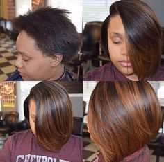 Like the color Black Hairstyles Hair styles, Hair, Hair color african american feathered bob hairstyles - Bob Hairstyles African Hairstyles, Weave Hairstyles, Straight Hairstyles, Girl Hairstyles, Black Hairstyles, Curly Hair Styles, Natural Hair Styles, Love Hair, Hair Highlights
