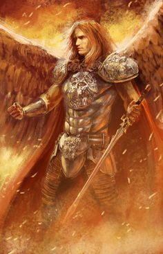 Michael by Imad Awan on ArtStation Guardian Angel Pictures, Guardian Angels, Fantasy Art Men, Anime Fantasy, Angels Among Us, Angels And Demons, St Micheal, Saint Michael, Male Angels