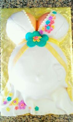 Gender neutral baby shower cake. -- No, this is definitely a female.