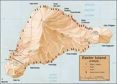 Map Location of Easter Island.