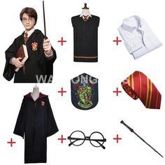 Gryffindor Uniform Full Set Cosplay Costume Adult Version