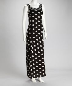 Double polka dot maxi for only $20!     Take a look at this Black Polka Dot Maxi Dress by Dily on #zulily today!