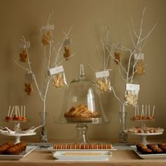 Cookie leaves with your contact information. A beautiful way to bid au revoir to guests this autumn...