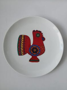 Kaiser decorative plate with a chicken Cape Town, Skyscraper, Decorative Plates, Chicken, Retro, Tableware, Skyscrapers, Dinnerware, Tablewares