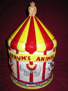 Ringling Bros. & Barnum Bailey Circus Cookie Jar made in China for The Nabisco Classics Collection