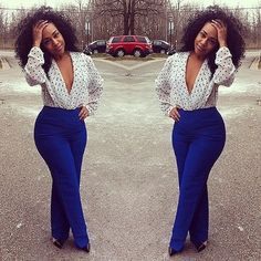 She baddddd.... outfit is so sick.  Love it!
