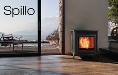 """A pellet stylisch fireplace from Nordic Fire. Nordic Fire named this model """"stylo"""". Wood, Home Appliances, House, Home, House Inspiration, New Homes, Pellet Fireplace, Fireplace, Wood Stove"""