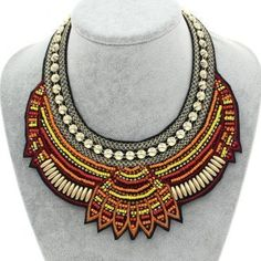 It is a trendy fashion choker that has pendant size of 80*160mm and it weighs 35g. It has the shape of geometric and can be used for occasion like engagement party and gift.  #necklace #chokernecklace #jewelry #choker #fashion