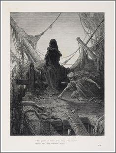 """Gustave Doré (1832-1883), """"Les jeux sont faits"""", Illustration pour Samuel Taylor Coleridge, """"The Rime of the Ancient Mariner"""" - 1876"""