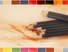 Download free powerpoint templates colored pencils brown