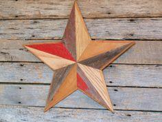 rustic barn star, country star, primitive star, homespun star - $55 on Etsy