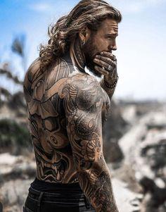 Trimmed Beard Styles, Beard Styles For Men, Hair And Beard Styles, Inked Men, Bart Tattoo, Sexy Bart, Barba Sexy, Sexy Tattooed Men, Bearded Tattooed Men