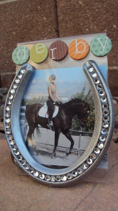 Bedazzled Horse Shoe Frame by sarahlayton1 on Etsy, $15.00