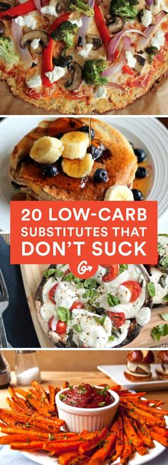 Mac n' cheese, pancakes, and pizza don't have to leave you feeling terrible. These lighter versions of popular high-carb meals are sure to rival the originals. #healthy #lowcarb #recipes https://greatist.com/health/lower-carb-alternatives