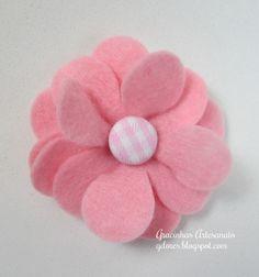 Gracinhas Artesanato: Tutorial Flores Feltro (2)