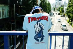 Thrasher x Challenger Capsule Collection Look Fashion, High Fashion, Mens Fashion, Fashion Outfits, Cool Tees, Cool Shirts, Tee Shirts, Shopping, Hoodie