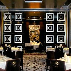 Modern Fine Dining Restaurant Interior Design of Prime Steakhouse, Las Vegas Ornaments
