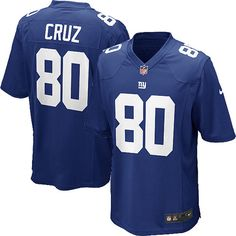 eaef87846 Nike Elite Youth New York Giants #80 Victor Cruz Team Color Blue NFL Jersey  $79.99