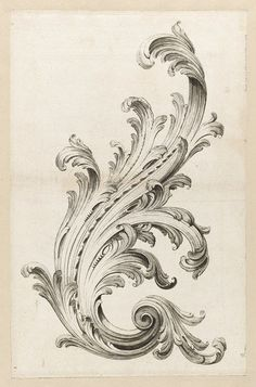 Alexis Peyrotte, 'Acanthus Leaf Design,' 1740, Cooper Hewitt, Smithsonian Design Museum