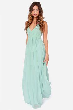LULUS Exclusive Strike a Minerva Mint Green Maxi Dress - savtod. Peach Maxi Dresses, Blue Bridesmaid Dresses, Chiffon Dress, Mint Dress, Bridesmaids, Mint Maxi, Elegant Dresses, Nice Dresses, Outfit