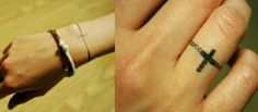 Love the cross ring tattoo (always wanted a ring tattoo)