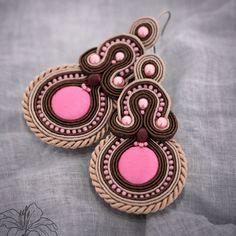 Soutache earrings Rosine | author: Zuzana Hampelova Valesova (Lillian Bann) | www.z-art-eshop.cz | http://www.facebook.com/pages/Z-ART/539656212733510