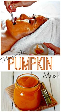 Easy Homemade Pumpkin Mask   Full of Vitamins to nourish the skin and enzymes to dissolve away dead skin cells leaving you with radiant, glowing skin!