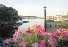 Flowers are blooming in beautiful Boothbay Harbor. Must visit small towns in Maine | Visit Maine Blog http://www.visitmaine.net/maine_blog/small-towns-in-maine-with-big-attractions/