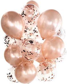 Cavore Konfetti Luftballon Set in Rosegold metallic – 20 Stück – Partydeko Ballons für Geburtstag, Hochzeit, Baby-Shower: Amazon.de: Spielzeug Glitter Ballons, Gold, Pearl Earrings, Ceiling Lights, Pearls, Baby, Jewelry, Metallic, Decor