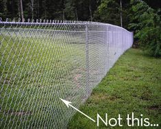 6 Decorated Chain Link Fences