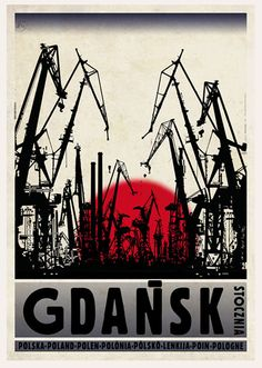 POLAND - Gdańsk / Plakat-Polska series / Postcards / Postallove - postcards made with love