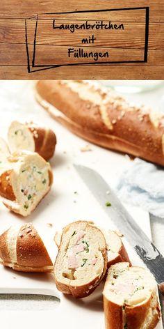Unsere Laugenbrötchen sind das perfekte Fingerfood-Gericht. Wir zeigen dir, wie du eine tolle Füllung aus Ricotta, Bacon und Apfel sowie eine Frischkäse-Fleischwurst-Füllung ganz einfach selbst machen kannst. Wir wünschen viel Spaß beim Snacken.